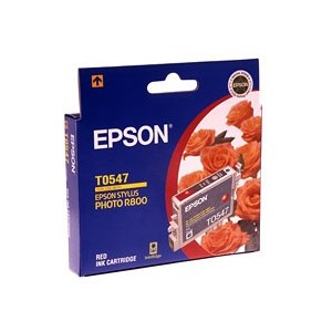Epson Genuine T0547 Red Ink Cartridge