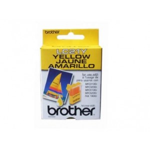 Brother LC 21 Genuine Yellow Ink