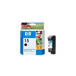 HP Genuine 15 Black Ink Cartridge C6615DA