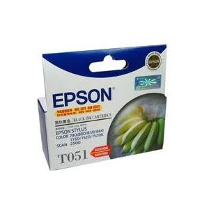 Epson Genuine T051 Black Ink Cartridge C13T051190