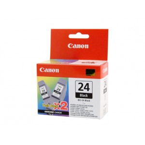 Canon Genuine BCI-24 Black Twin Pack