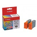 Canon Genuine BCI-24 Colour Twin Pack