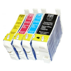 Epson Compatible T1031-T1034 (103N) High Capacity Ink Cartridges C/M/Y/K Value Pack