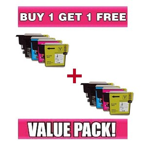 Brother LC39 Value Pack (BK, C, M, Y) - BUY 1 GET 1 FREE