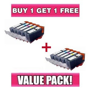 Canon PGI 520 CLI 521 Compatible Value Pack with chip - BUY 1 GET 1 FREE