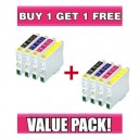 Epson T0631-T0634 Compatible Value Pack - B/C/M/Y - BUY 1 GET 1 FREE