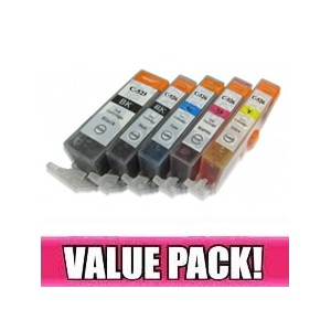 Canon PGI525 & CLI526 Compatible Value Pack with chip
