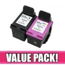 HP 60XL Black & Colour Compatible Value Pack