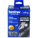 Brother Genuine LC67 HY Black Twin Pack