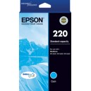 Epson 220 Genuine Cyan Ink Cartridge Standard Yield