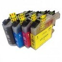 4 Pack Compatible Brother LC-233 Ink Cartridge Set (C,M,Y,BK)