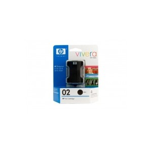 HP Genuine 02 Black Ink Cartridge C8721WA