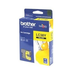 Brother Genuine LC38 Yellow Ink