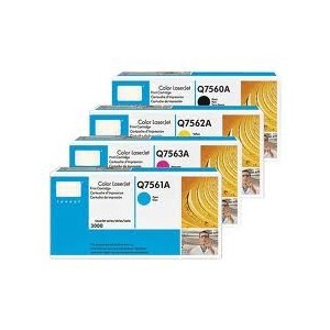 HP Q7560A Q7561A Q7562A Q7563A Genuine Toner Value Pack