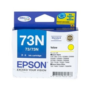 Epson Genuine T1054 (73N) Yellow Ink Cartridge