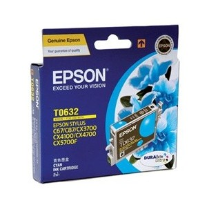 Epson Genuine T0632 Cyan Ink Cartridge
