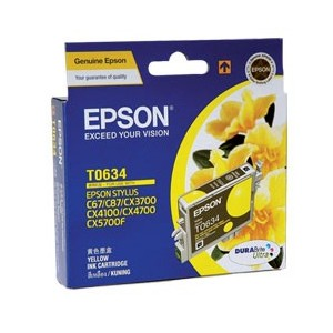 Epson Genuine T0634 Yellow Ink Cartridge