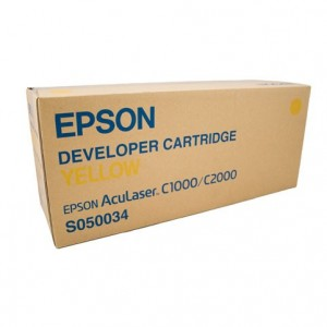 Epson Genuine S050034 Yellow Toner Cartridge