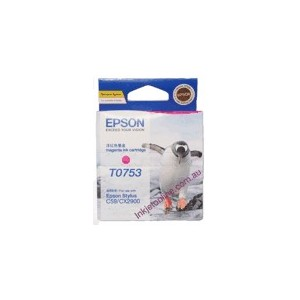 Epson Genuine T0753 Magenta Ink Cartridge