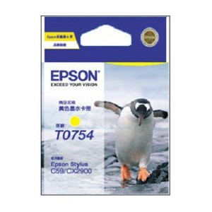 Epson Genuine T0754 Yellow Ink Cartridge