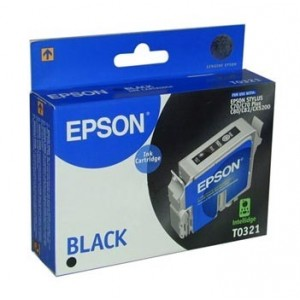 Epson Genuine T0321 Black Ink Cartridge C13T032190
